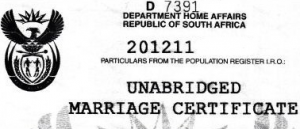 Marriage certificate sworn translator