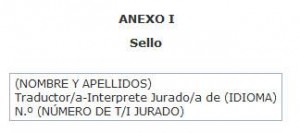 sello de traductor jurado